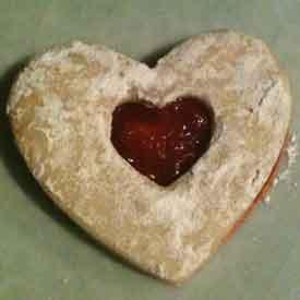 Valentine's linzer heart