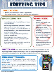 Frozen food tip sheet